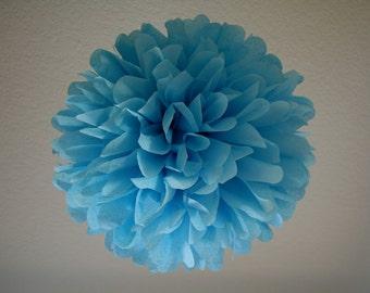 SKY / 1 tissue paper pom / wedding decoration / diy / birthday party pom / nursery poms / bar mitzvah decorations / blue party decorations