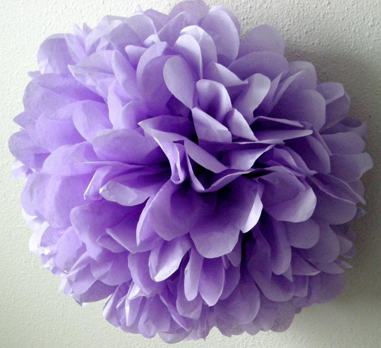 LAVENDER Tissue Paper Pom Purple Wedding Decorations Pastel