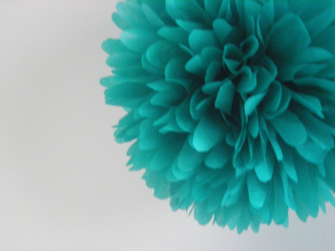 Pom Pom Decorations Teal 1 Tissue Paper Pom Pom Wedding Decorations