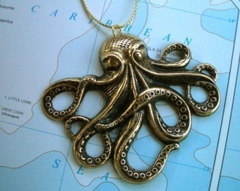 Christmas Ornament - Octopus Kraken Steampunk Nautical Design Theme - From CosmicFirefly