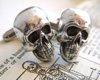 Men's Cufflinks Skull Cuff Links Gothic Victorian Skull Head Steampunk Cufflinks Vintage Inspired Pirate Accessories