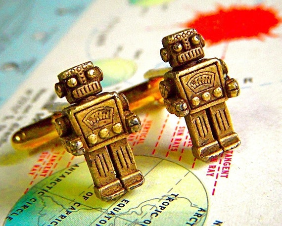 Robot Cufflinks Originals From Cosmic Firefly