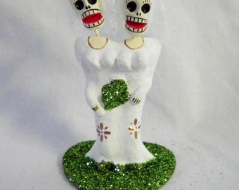 Same Sex Dia De Los Muertos Cake Topper - Same Sex Caketopper