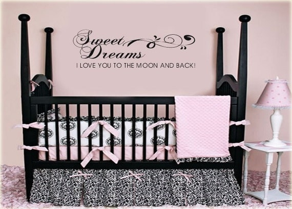 Love You To The Moon And Back Wall Art sweet dreamsi love you to the moon and back vinyl wall