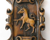 Unicorn, Medieval Reproduction Cathedral Carving.