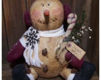 My Primitive SUGAR CANES Snowman Sitter Pattern