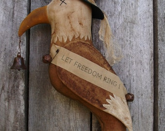 My Primitive LET FREEDOM RING  Eagle Door Hanger pattern