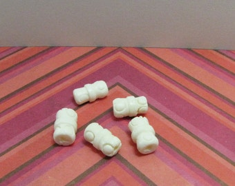 Carved Bone Ivory Color  Tube Bead Dreadlock beads  southwestern Native American Bead Supply Jewelry Supply