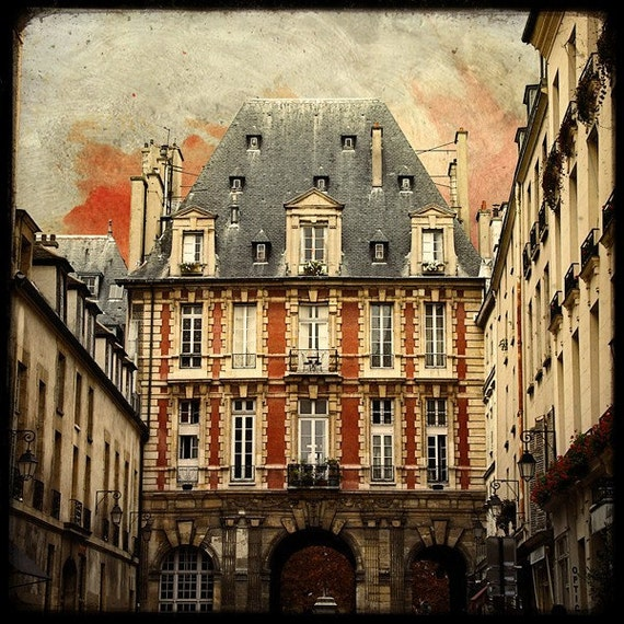 Place des Vosges - Fine Art Print - From Paris With Love - Romantic City - parisian Collection - TFTeam