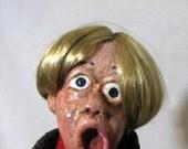 Doll Creepy Scary Hand Sculpted Doll Screaming Heyward Halloween