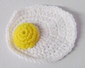 Amigurumi Crochet Fried Egg Play Food~Handmade Crochet Play Food~Child's Kitchen~Pretend Play~Crochet Breakfast Food~Photo Prop~Amigurumi