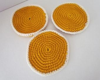 Crochet Pancakes Play food~Amigurumi Play food~Pancakes~Crochet Breakfast Food~Child's Kitchen~Pretend Play~Imagination~Kitchen~Birthday~Toy
