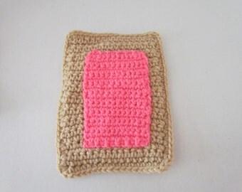 Amigurumi Crochet Pop Tart Play Food with Pink Frosting's
