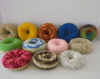 Amigurumi Crochet Dozen Dougnuts Playfood~Photo Prop~Gift for Child~Pretend Play~Food Display~Bakery~