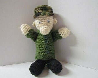 Crochet Amigurumi Military  Bear Toy~ Military Green  Bear~ Gift for Military Child~Birthday~ U.S. Military~Child~ Gift for Soldier