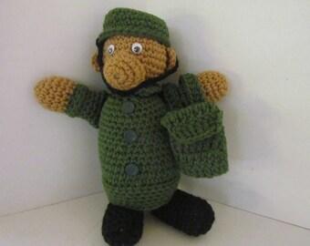 Crochet Military Bear