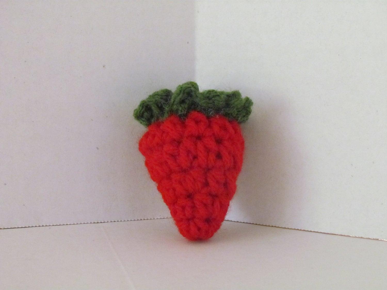 Amigurumi Strawberry Doll Pattern : Crochet Amigurumi Strawberry PlayfoodPretend PlayCrochet