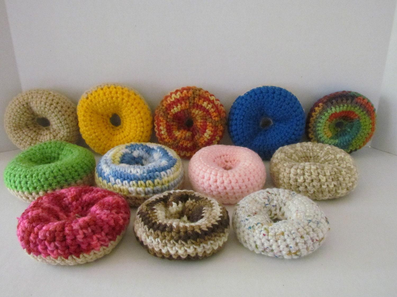 Amigurumi Care Instructions : Amigurumi Crochet Dozen Dougnuts PlayfoodPhoto PropGift for