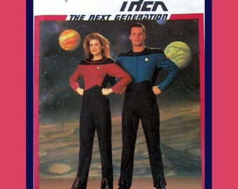 Star Trek-The Next Generation - Great Womens Sewing Pattern Costume-Size 6-16-Uncut-Very Rare-OOP