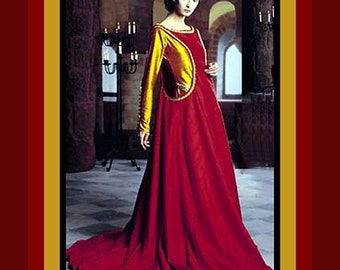 Beautiful Queen of Camelot -Medieval Designer Gown Costume Sewing Pattern -Size 10-14 -Uncut -Rare -Out of Print