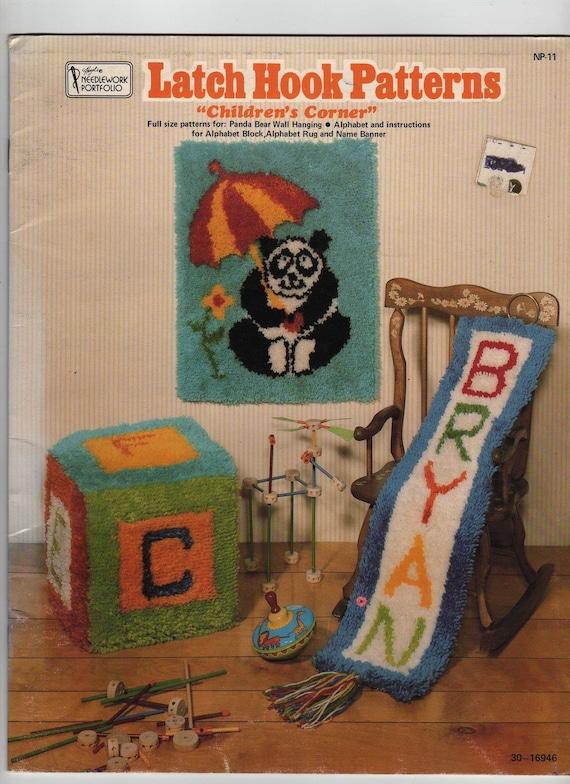 Latch Hook Patterns Childrens Corner Vintage Needleworks