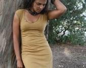 Stretch Hemp Cap Sleeve Dress (hemp/organic cotton)