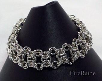 Sterling Silver Double Byzantine Bracelet