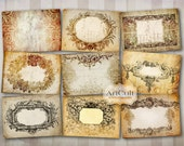 Printable downloads ANTIQUE STYLE LABELS No2. Digital Download Collage Sheet Vintage ephemera Paper craft goods Jewelry holders gift tags