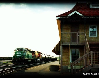 Train Station. Matted Fine art photograph