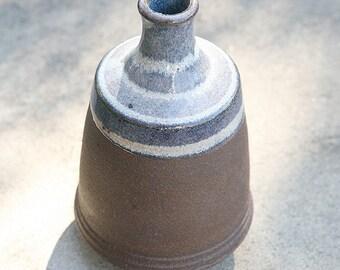 Wheel Thrown  Black Mountain Clay Vase with Lavender glaze