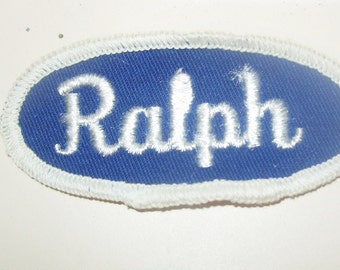 Vintage Name Patch RALPH Hat Jacket Mechanic Trucker Embroidered Rockabilly Punk