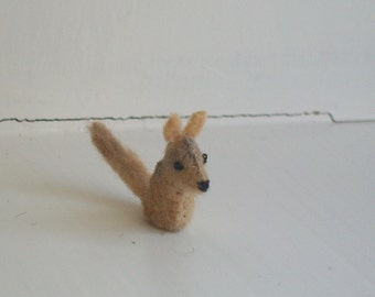 Tiny Coyote -- miniature coyote - felt coyote - stuffed coyote plush - toy coyote - coyote therian animal - otherkin coyote totem