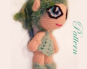 Lola the Green Fairy Pattern
