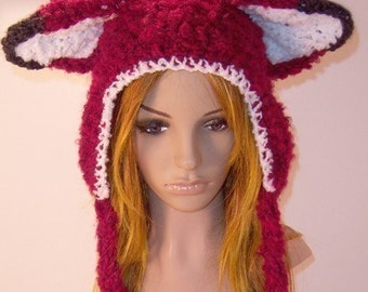 Adult-Kitsune Fox Hat and Child-Kitty Hat Patterns (2 in 1)