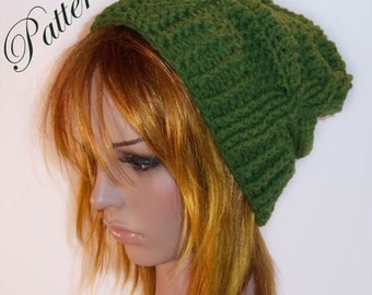 """Cable Fae Slouch Hat """"""""""""P A T T E R N"""""""""""""""