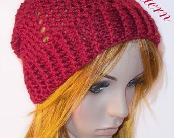 """Valentine Slouch Hat """"""""""""P A T T E R N"""""""""""""""