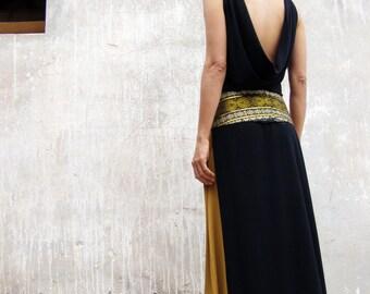 Black evening elegant dress-Black maxi dress-The majestic Arabian night dress-Wedding dress-Bridesmaid dress-Prom dress