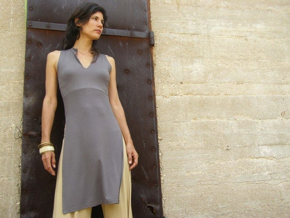 Summer womens tunic-ASIAN lycra/jersey top tunic-Summer womens tunic-Womens clothes-Sleeveless tunic-Choose your color