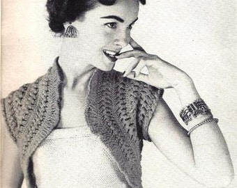 Crochet Pattern Hairpin Lace Hamaca Shrug Vintage 725003