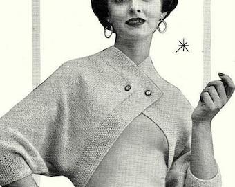 Retro Shrug Sweater Knitting Pattern 726081