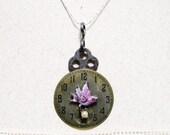 Skeleton Key Necklace Steampunk Watch Necklace