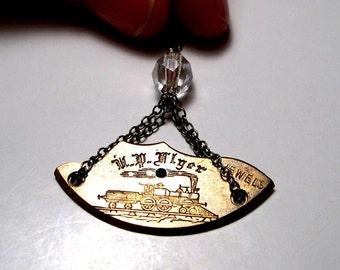 Steampunk Necklace, Locomotive Jewelry