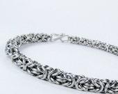 Chainmaille Bracelet - Thin Byzantine Pattern