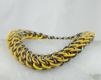 Stretchy Yellow - Chainmaille Bracelet - GSG Style