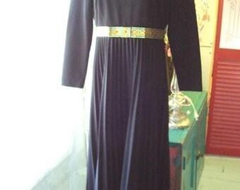 60s Maxi Dress Glam Style R n K Sz M