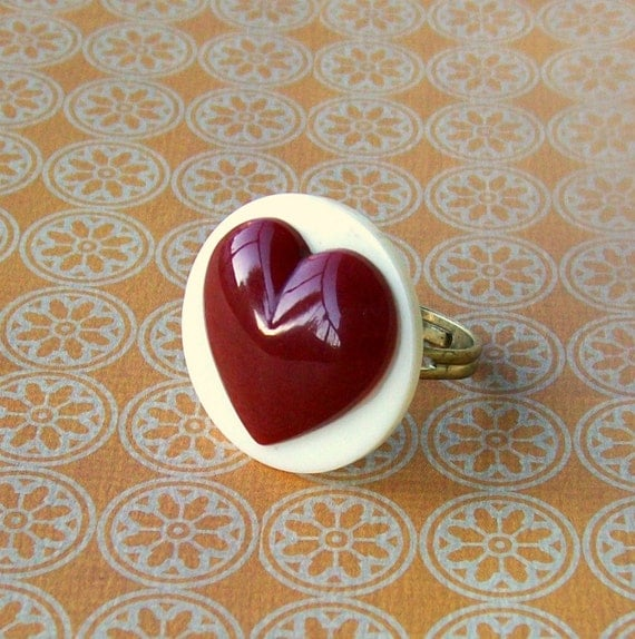 Chocolate Heart Ring (REDUCED)