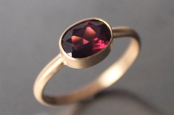Rhodolite Garnet Ring in 14k Recycled Gold