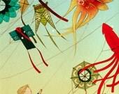 11x14 Print - Kite Boy - Color Fine Art Print
