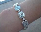 Shades of Silver Beaded Bracelet