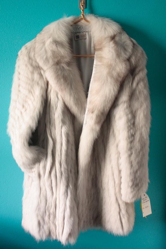 Saga Fox Vintage blue fox fur coat